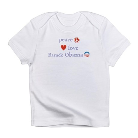 Peace, Love and Obama Infant T-Shirt