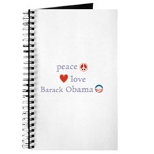 Peace, Love and Obama Journal