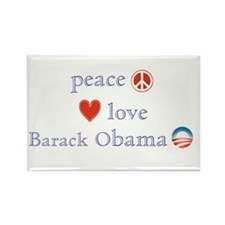 Peace, Love and Obama Rectangle Magnet