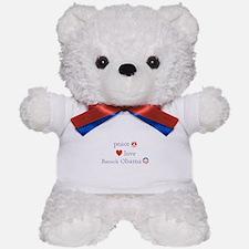 Peace, Love and Obama Teddy Bear