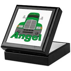 Trucker Angel Keepsake Box