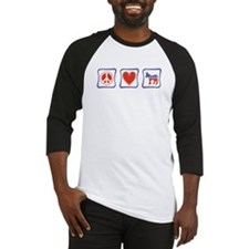 Peace, Love and Democrat Baseball Jersey