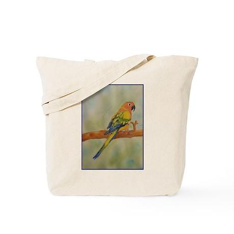 Sun Conure Watercolor Painting Tote Bag