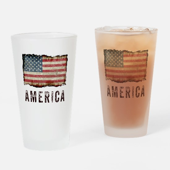 Vintage America Drinking Glass