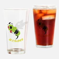 Cute Zombie bee Drinking Glass