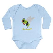Cute Zombie bee Long Sleeve Infant Bodysuit