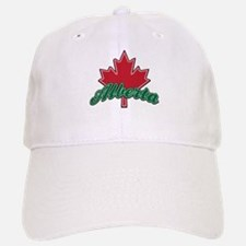 Alberta Maple Leaf Baseball Baseball Cap