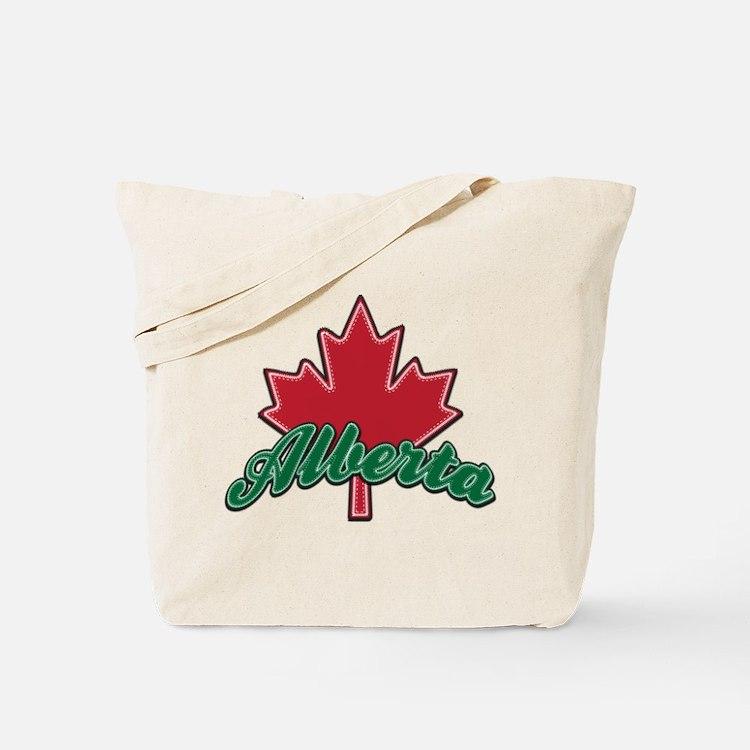 Alberta Maple Leaf Tote Bag