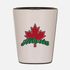 Alberta Maple Leaf Shot Glass