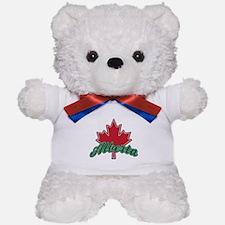 Alberta Maple Leaf Teddy Bear