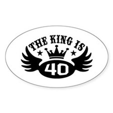 The King is 40 Decal