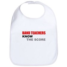 Band Teachers Blue Letters Bib