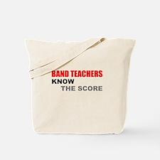 Band Teachers Blue Letters Tote Bag