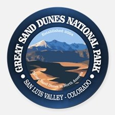 Great Sand Dunes NP Round Car Magnet