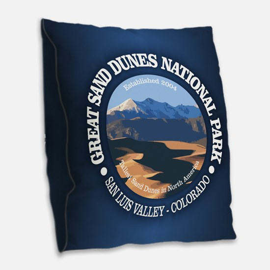 Great Sand Dunes NP Burlap Throw Pillow