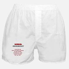 School Sec. Duties Boxer Shorts