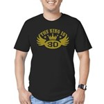 The King is 30 Men's Fitted T-Shirt (dark)