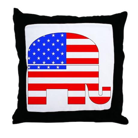 Republican Elephant - Throw Pillow