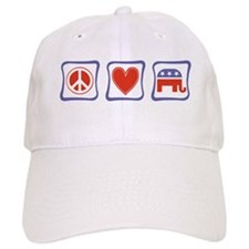 Peace, Love and Republican Baseball Cap