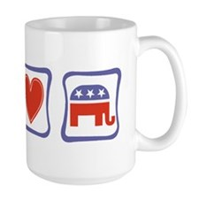 Peace, Love and Republican Mug