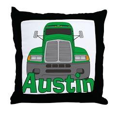 Trucker Austin Throw Pillow
