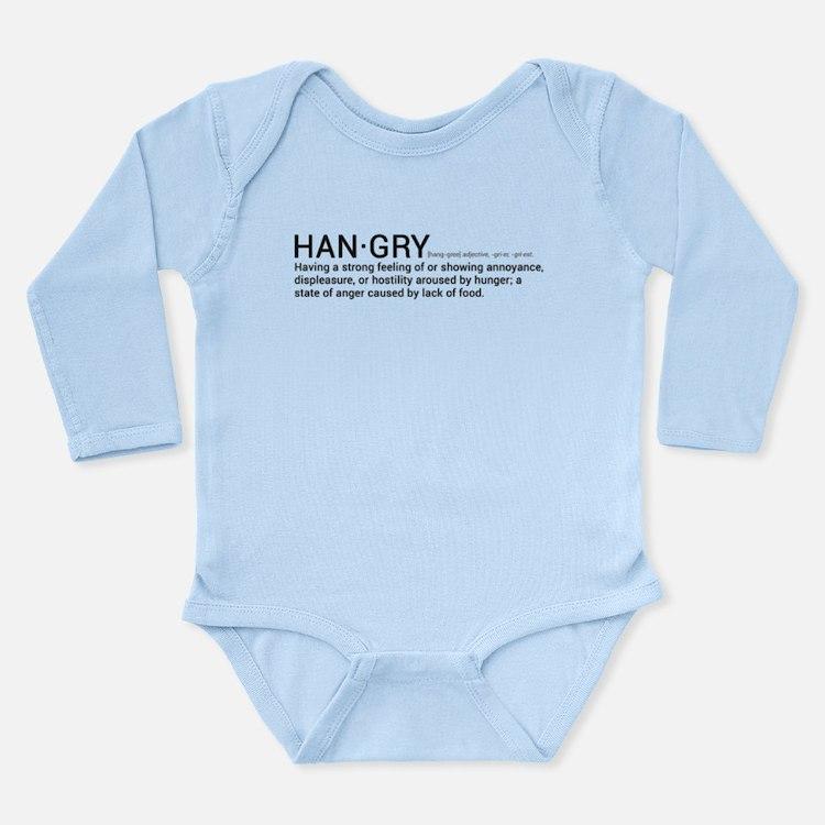 Long Sleeve Infant Hangry Bodysuit