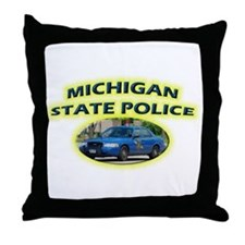 Michigan State Police Throw Pillow