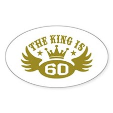 The King is 60 Decal