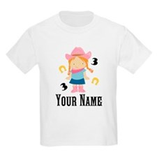 Personalized 3rd Birthday Cowgirl T-Shirt