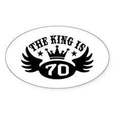 The King is 70 Decal