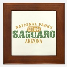 Saguaro National Park Arizona Framed Tile