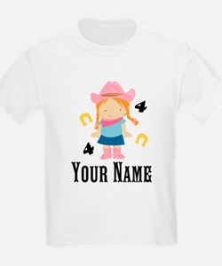Personalized 4th Birthday Cowgirl T-Shirt