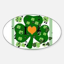 Cute I heart dan Sticker (Oval)