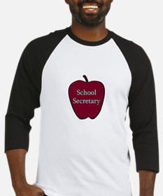 School Secretary Apple Baseball Jersey
