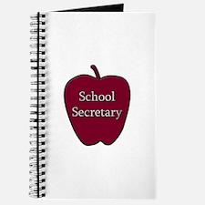 School Secretary Apple Journal