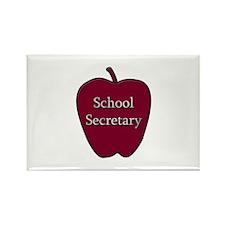 School Secretary Apple Rectangle Magnet