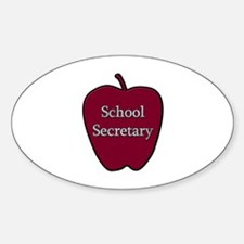 School Secretary Apple Decal