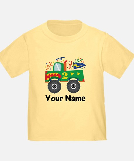 Personalized 2nd Birthday Monster Truck T