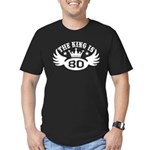 The King is 80 Men's Fitted T-Shirt (dark)