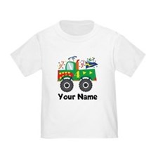 Personalized 4th Birthday Monster Truck T