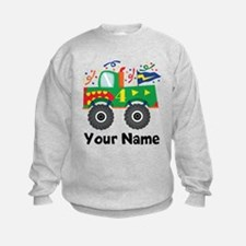 Personalized 4th Birthday Monster Truck Sweatshirt