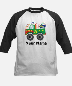 Personalized 5th Birthday Monster Truck Tee
