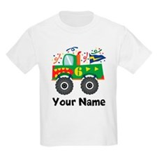 Personalized 6th Birthday Monster Truck T-Shirt