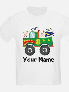 8th Birthday Monster Truck T-Shirt