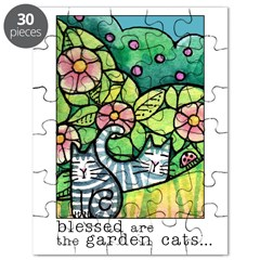 GARDEN CATS Puzzle (choice of 2 skill levels)