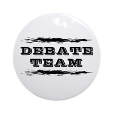 Debate Team Ornament (Round)