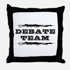 Debate Team Throw Pillow