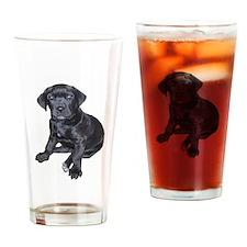Mastiff Puppy Drinking Glass