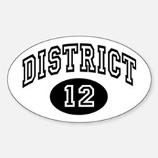 Hunger Games District 12 Sticker (Oval)