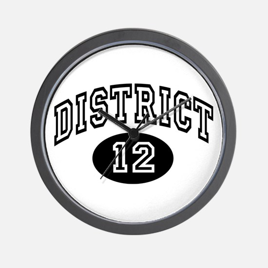 Hunger Games District 12 Wall Clock